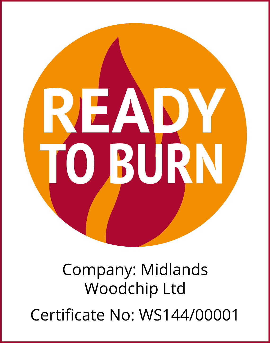 Ready To Burn company certificate
